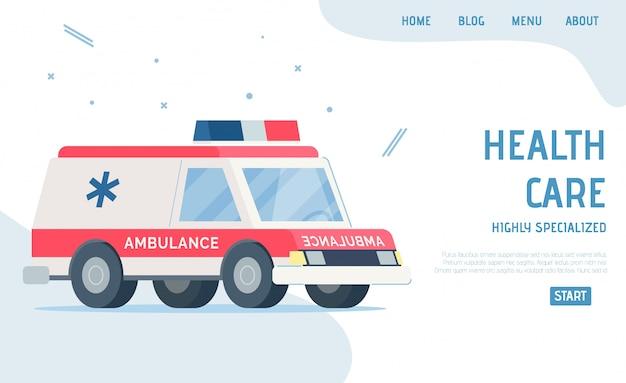 Landing page present healthcare altamente especializado
