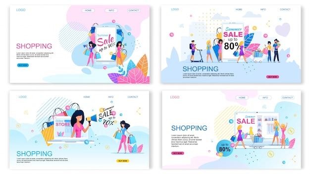 Landing page set oferta compra com descontos diferentes