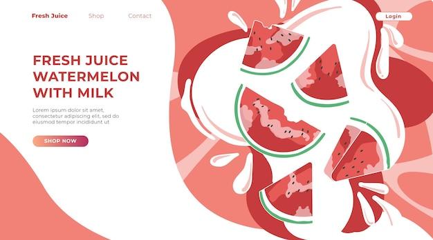 Landing page suco fresco de melancia com leite