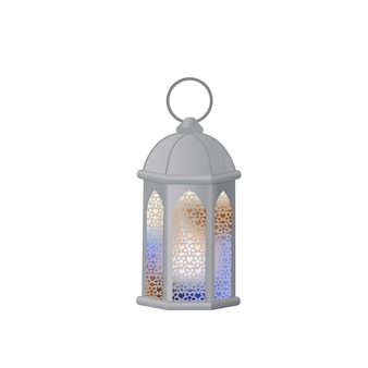 Lanterna árabe com vidro multicolorido. fanous é o símbolo do ramadã.
