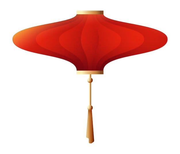 Lanterna chinesa. pendurado luz noturna vermelha e dourada isolada no fundo branco