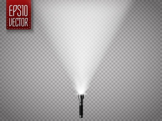 Lanterna com raios isolados na transparente