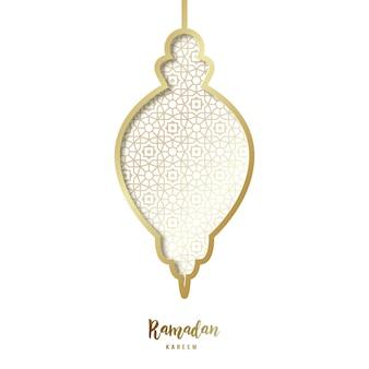 Lanterna dourada decorativa do ramadã