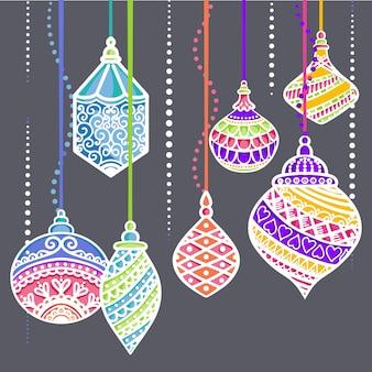 Lanternas de enfeites de natal