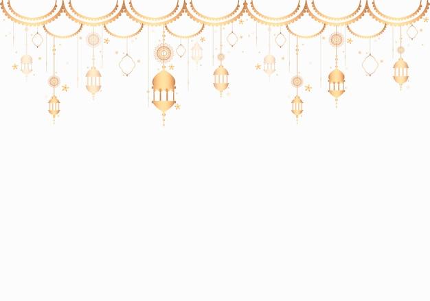 Lanternas padrão de um fundo branco em branco