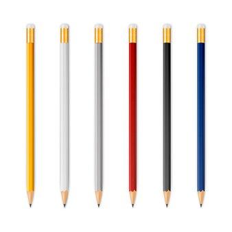 Lápis afiados de madeira