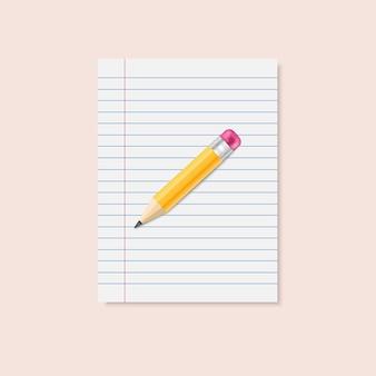 Lápis amarelo brilhante clássico