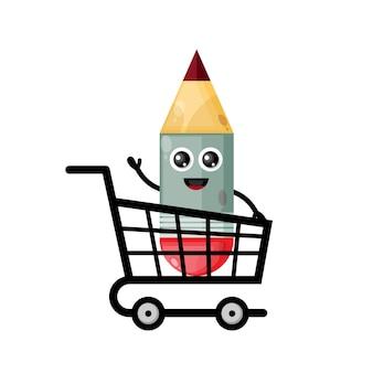 Lápis carrinho de compras