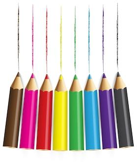 Lápis de cor com backround branco