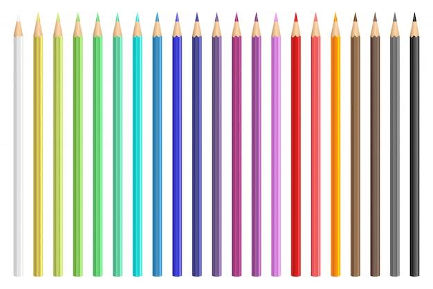 Lápis de cor desenho illustraion isolado no fundo branco