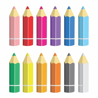 Lápis de cor dos desenhos animados