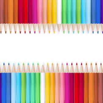 Lápis de cor, isolados no fundo branco.