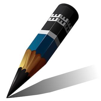 Lápis de desenho curto.