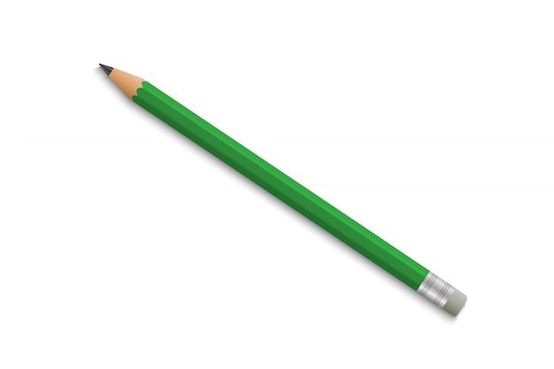 Lápis de escola realista com borracha