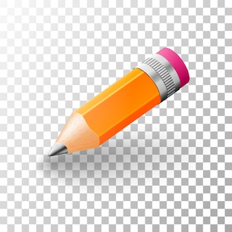 Lápis de grafite 3d simples realista.
