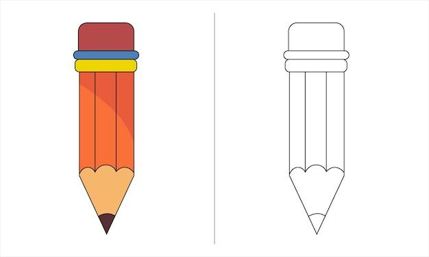 Lápis de ilustração de livro para colorir infantil
