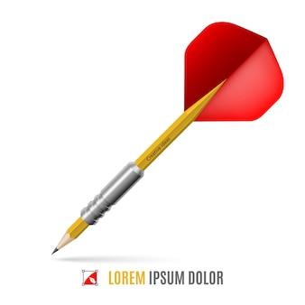 Lápis de mira com forma de dardo
