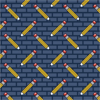 Lápis doodle padrão
