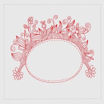 Lápis doodles flor