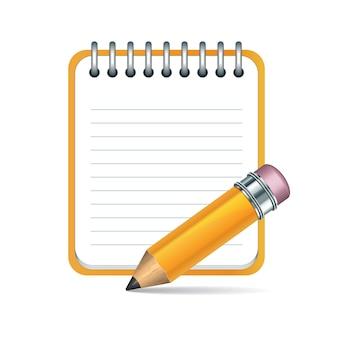 Lápis e bloco de notas