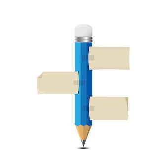Lápis e papel de nota