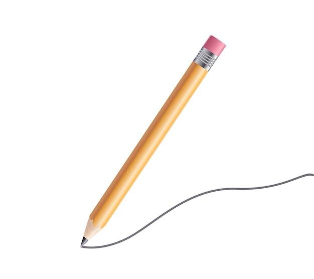 Lápis sobre fundo branco. doodle circular de vetor rabisca círculos redondos para o elemento de design.