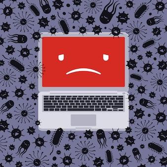 Laptop capturado por vírus
