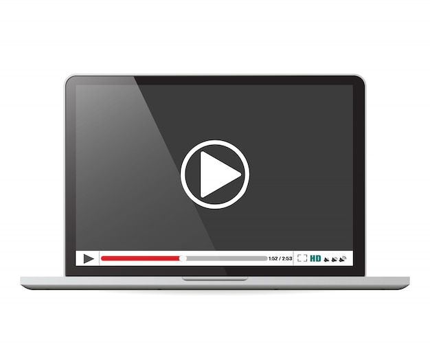 Laptop com media player