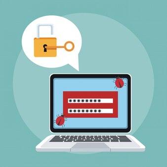 Laptop com sistema de segurança