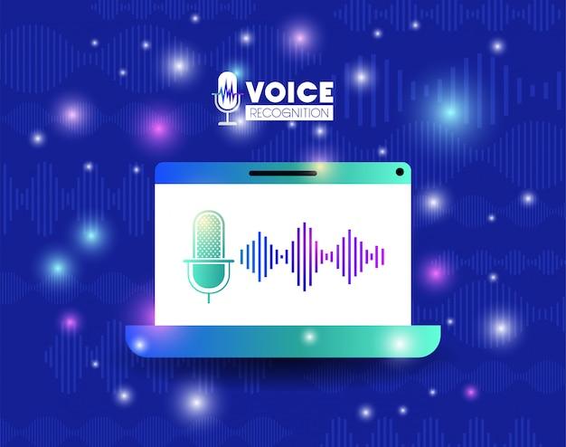 Laptop com tecnologia de reconhecimento de voz