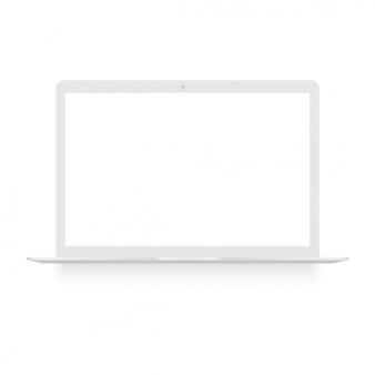 Laptop com tela branca simulada