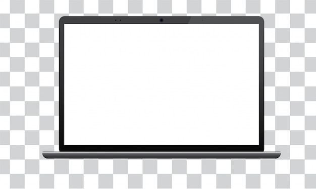 Laptop com tela de maquete isolada