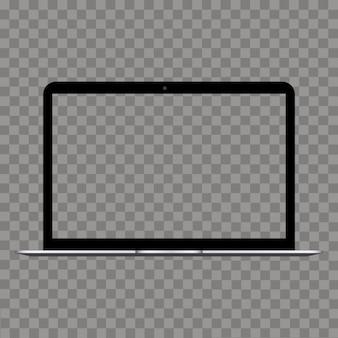 Laptop com tela transparente simulada