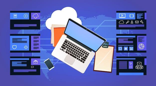 Laptop de mesa de escritório