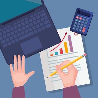 Laptop e finanças pessoais