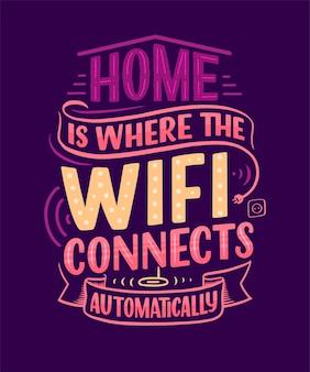 Lar é onde o wifi se conecta automaticamente