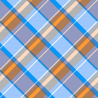 Laranja azul cinza verificar xadrez padrão sem emenda