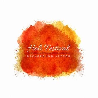 Laranja manchas de aquarela, festival de holi