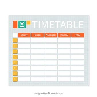 Laranja prática e calendário amarelo