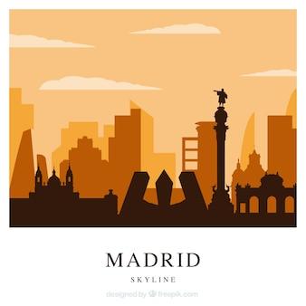 Laranja skyline de madrid