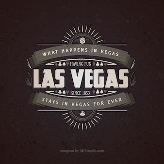 Las vegas badge do vintage