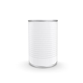 Lata de comida em branco