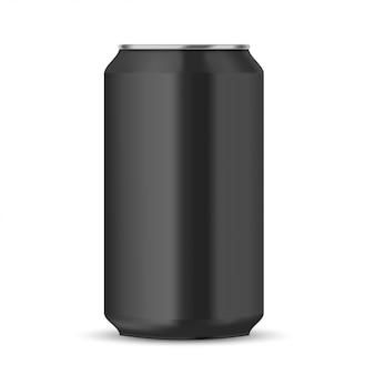 Lata de refrigerante preta