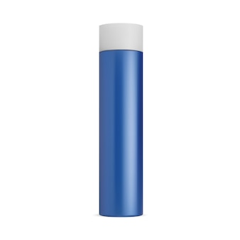 Lata de spray de maquete de desodorante para o cabelo aerossol para o cabelo, cilindro de lata, recipiente para cosméticos, spray para cabelo em branco