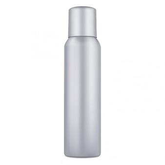 Lata de spray. desodorante em alumínio aerossol em branco