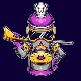 Lata de spray graffiti