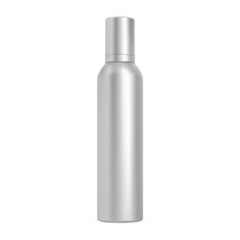 Lata de spray spray para cabelo, frasco de aerossol, maquete cosmética, tubo de alumínio em branco