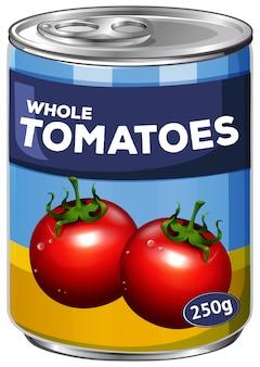 Lata de tomates inteiros