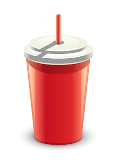 Lata vermelha de bebida
