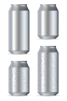 Latas realistas de alumínio